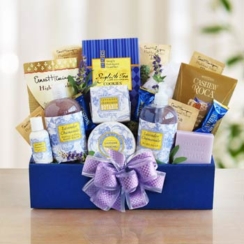 Bath and Body Lavender Gift Box