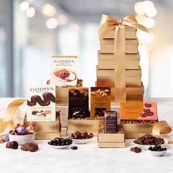 Seasons Greetings Gift Tower