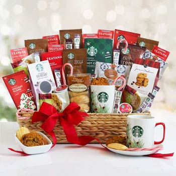 Starbucks Winter Coffee Basket