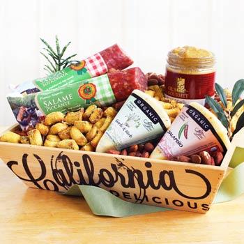 Gourmet Snack Gift Basket for Him