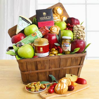 Gourmet Fruit Business Basket