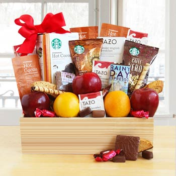 Starbucks® Java and Fruit Gift Basket