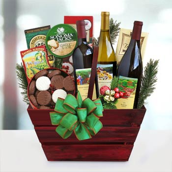 Holiday Wine Trio Gift Basket