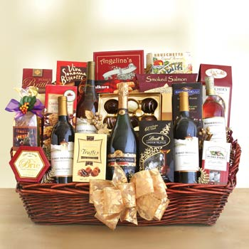 Deluxe Corporate Wine Gift Basket - One Size