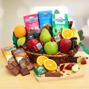 Executive Gourmet Fruit Gift Basket