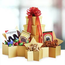 Holiday Star Chocolate Gift Tower