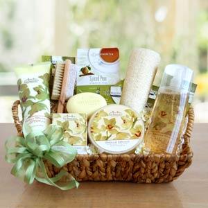 Vanilla Orchid Spa Gift Basket