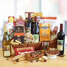Office Party Wine Gift Basket