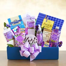 Bath and Body Lavender Gift Basket