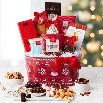 Festive Christmas Holiday Basket