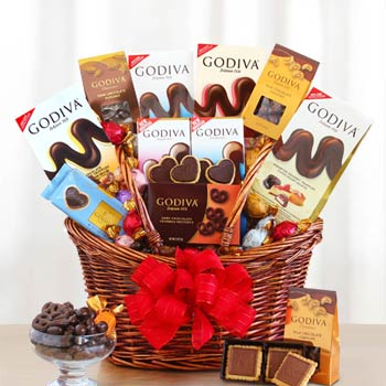 Godiva Chocolate Holiday Basket