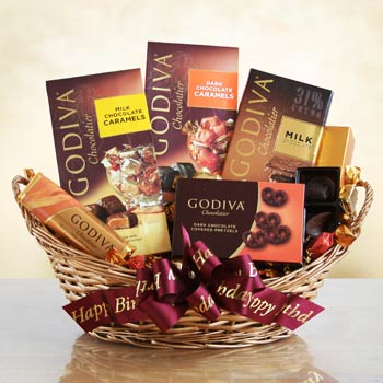 Godiva Birthday Celebration Chocolate Basket
