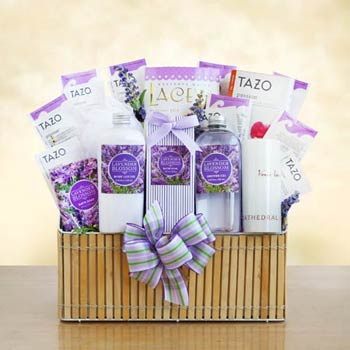 Lavender Bath and Body Basket