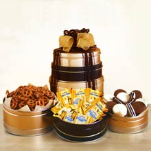 Holiday Snacks Gift Tower