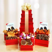 Godiva Happy Holiday Gift Tower
