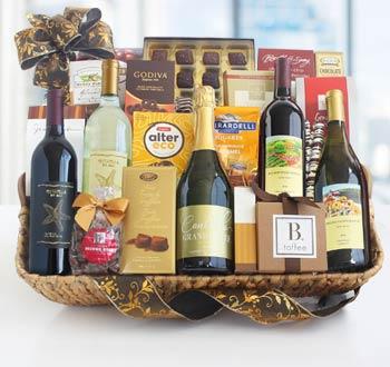 Deluxe Corporate Wine Gift Basket