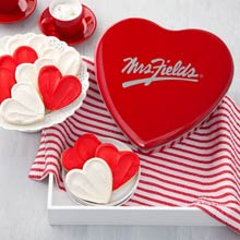 Mrs. Fields Heart Cookie Tin