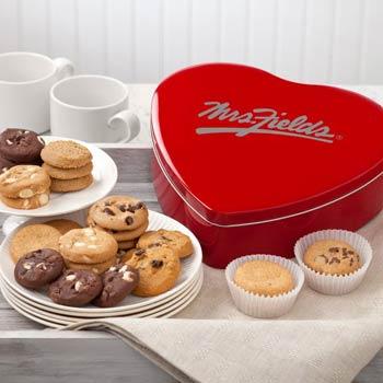 Mrs. Fields® Heart Cookie Tin
