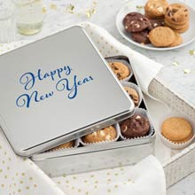 Mrs. Fields New Year Cookie Tin