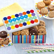 Mrs. Fields® Birthday Cookie Gift Tin