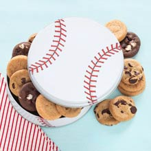 Baseball Cookie Tin