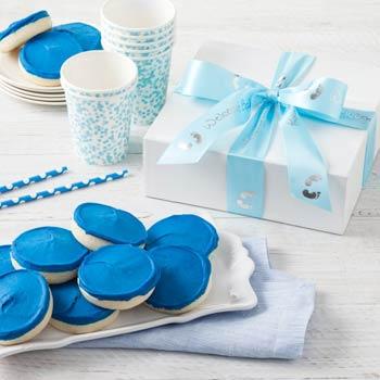 Mrs. Fields Newborn Boy Cookie Box