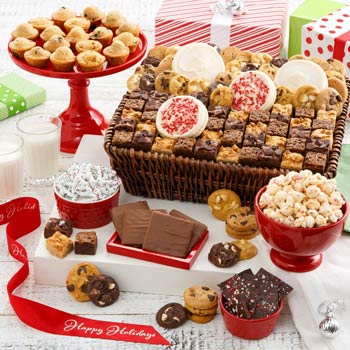 Mrs. Fields® Deluxe Holiday Cookie Gift Basket