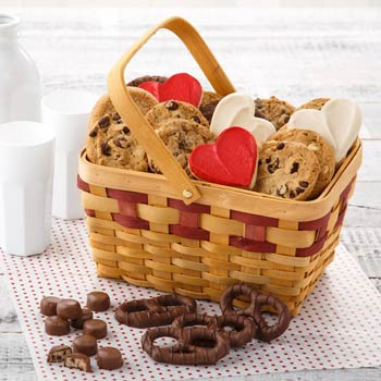 Valentine Sweets Cookie Basket