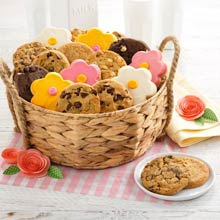 Mrs. Fields Deluxe Spring Cookie Basket