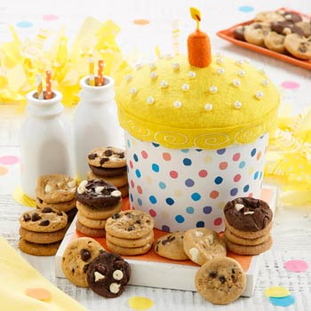Mrs. Fields Birthday Cake Cookie Box