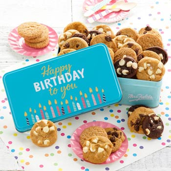 Mrs. Fields Happy Birthday Tin