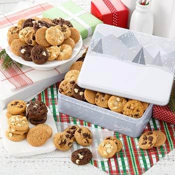 Mrs. Fields Happy Holidays Cookie Tin