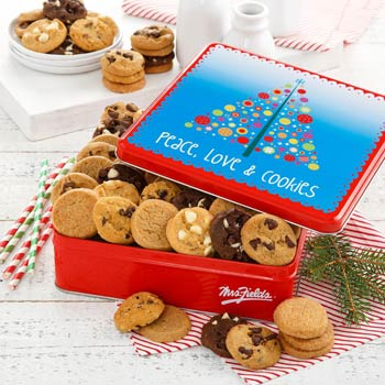 Mrs. Fields® Christmas Cookie Tin