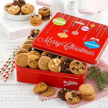 Mrs. Fields Merry Christmas Cookie Tin