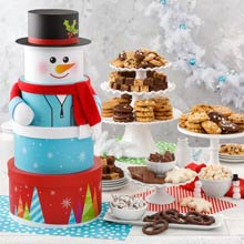 Mrs. Fields® Happy Holiday Snowman Tower