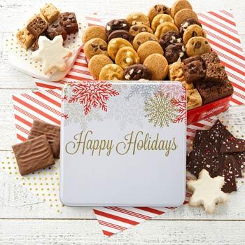Mrs. Fields® Happy Holidays Cookie Tin