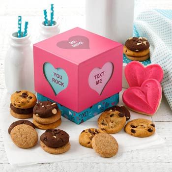 Mrs. Fields Heart of Love Valentines Cookie Box