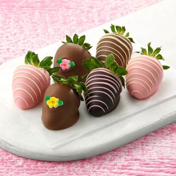 Chocolate-Dipped Strawberries for Her