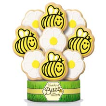 Bumble Bee Thank You Cookie Gift Bouquet