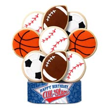 Sports Birthday Cookie Bouquet