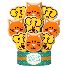 Dog & Cat Birthday Cookie Bouquet