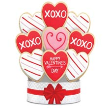 Romantic Gift Cookie Bouquet