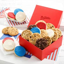 Red, White and Blue Cookie Gift Box