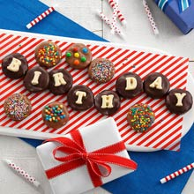Birthday Chocolate-Covered Cookie Gift