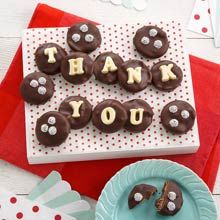 Thank You Chocolate-Covered Cookie Gift