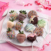 Chocolate-covered Strawberries and Cookie Pops
