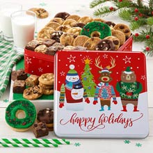 Mrs. Fields Seasons Greetings Cookie Tin