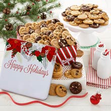 Mrs. Fields Happy Holidays Cookie Tin