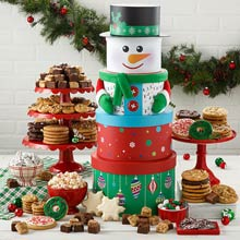 Mrs. Fields Happy Holiday Snowman Tower