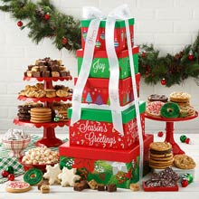 Mrs. Fields Festive Gift Tower